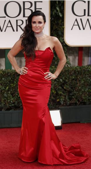 Kyle Richards Golden Globes Dress