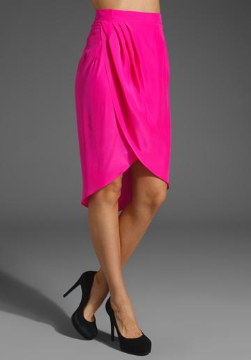 Amanda Uprichard Petal Skirt in Hot Pink