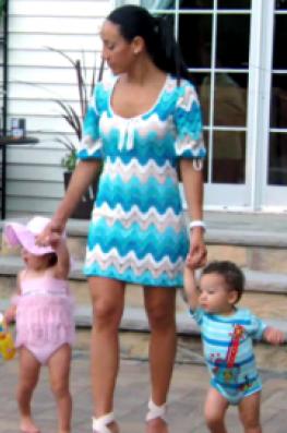 Melissa Gorga Blue Zig Zag Dress