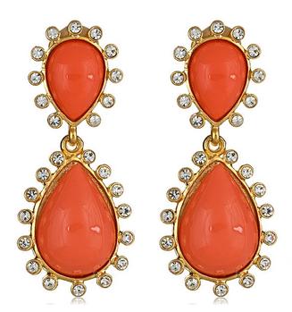Kenneth Jay Lane Coral Capri Earrings