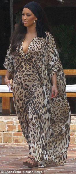 2068ec57d Kim Kardashian's Leopard Kaftan | Big Blonde Hair