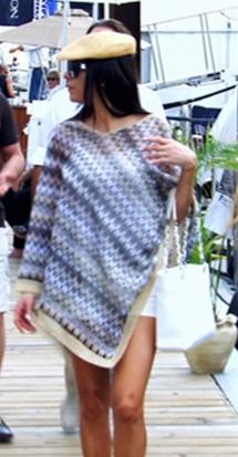 Adriana De Moura's Zig Zag Striped Poncho