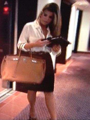 Ana Quincoces Tan Oversized Purse Bag