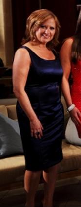 Caroline Manzos Navy Blue Season 4 Real Housewives of New Jersey Reunion Dress Armani Collrzioni