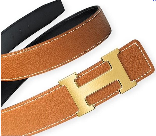 Hermes H Belt Tan Gold
