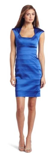 JAX Women's Satin Stretch Dress