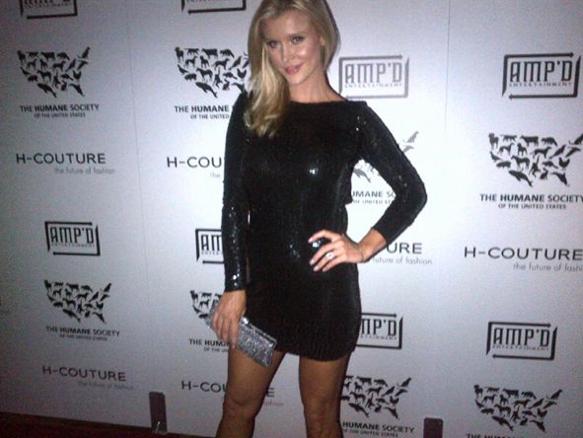 Joanna Krupa Black Backless Sequin Dress Humane Society Event