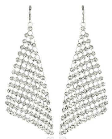 Leslie Danzis Crystal CZ Earrings Teresa Giudice