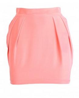 Naven Skinny Mini Skirt in Peach