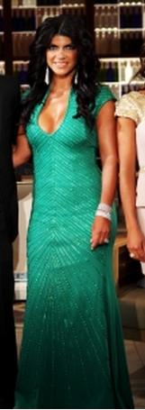 Teresa Giudice's Green Real Housewives of New Jersey Reunion Dress Holt Dress