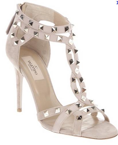 Valentino Studded T Strap Sandals
