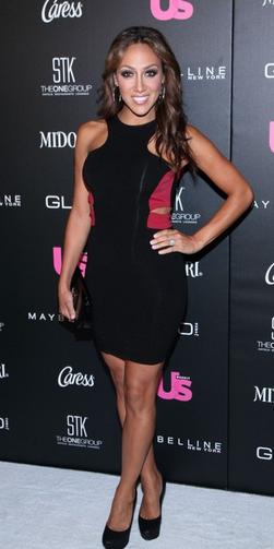 Melissa Gorga Black and Red Cutout Donna Mizani Dress