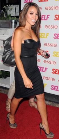 Melissa Gorga Blaque Label Leather Corset Dress