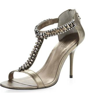 Pelle Moda London Embellished Crystal Sandal