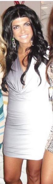 Teresa Giudice Black and White Ombre Savee Couture Dress