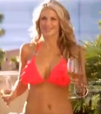 Alexis Bellino Real Housewives Season 7 Coral Ruffle Ring Bikini Zeugari