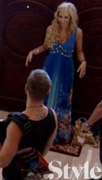 Adina Barbara Blue Built Maxi Dress