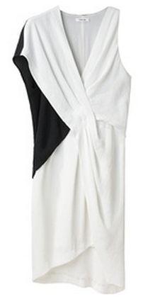 Helmut Lang BiColor Tuck Dress