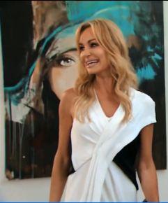 Helmut Lang Black and White Bi-Color Draped Dress