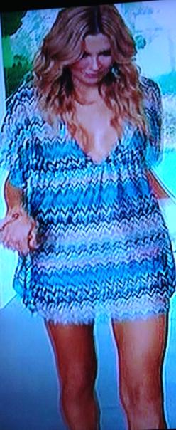 Karina Grimaldi Nicol Dress Blue Zig Za