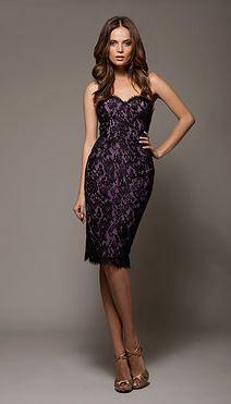Purple and Black Lace Corset Dress