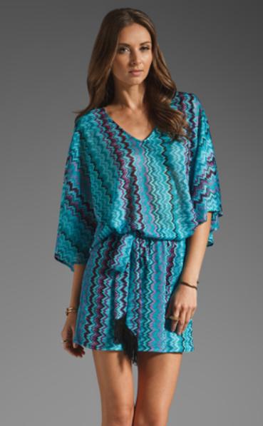 Karina Grimaldi Nicole Blue Zig Zag Dress