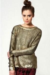 Gold Metallic Sweater