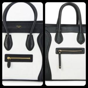 Celine Boston Bag Black and White