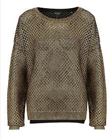 Topshop Gold Metallic Sweater