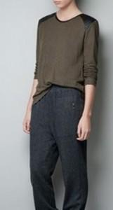 Zara Green Leather Shoulder Top