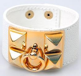 Hermes Inspired White Cuff