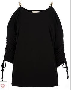 Michael Kors Chain Shoulder Top
