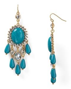 Aqua Turquoise Chandelier Earrings