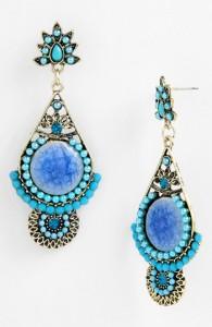 Cara Blue Drop Earrings