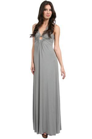 Michelle Jonas Grey Ring Maxi Dress