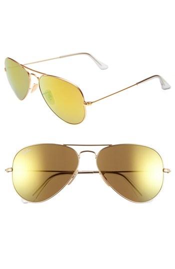 Gold Mirrored Sunglasses Ray Ban