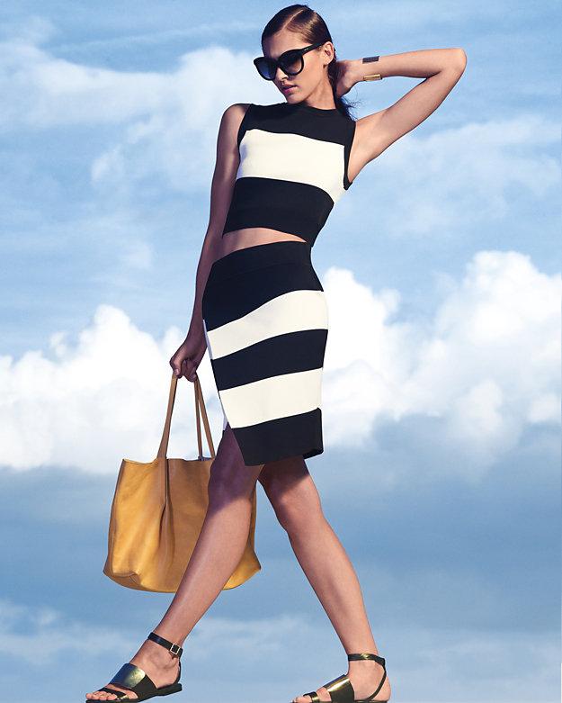 ALC Striped Pencil Skirt