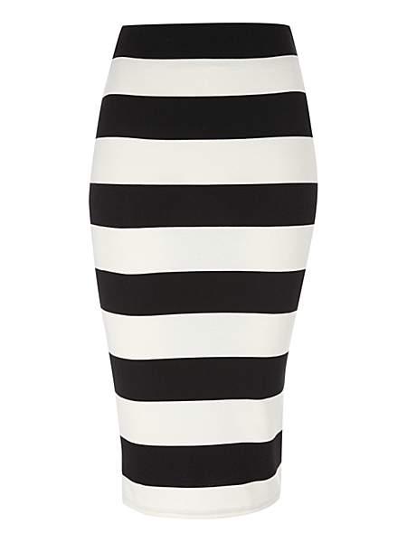 Jane Norman Striped Pencil Skirt