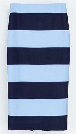Zara-Blue-Striped-Pencil-Skirt