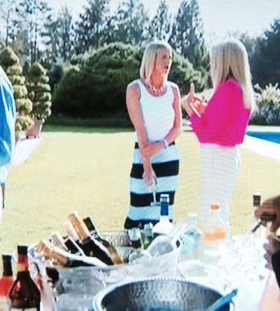 Kristen Taekman's Blue Striped Maxi Dress in the Hamptons