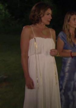 Luann delesseps white maxi dress