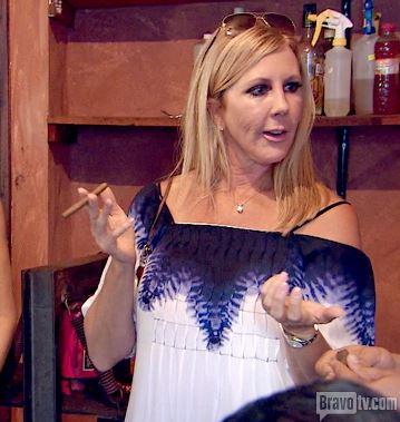 Vicki Gunvalsons Blue & White Dress in Mexico