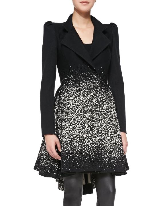 Alice & Olivia Carth Puff Sleeve Coat