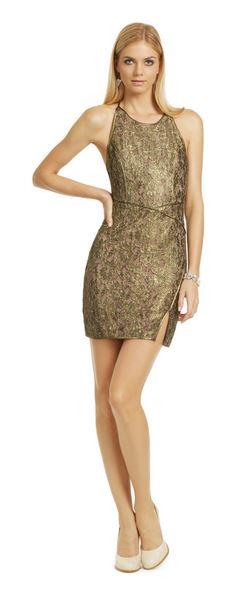 BCBG Gold Metallic Dress