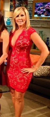 Red Lace Deep V Dress