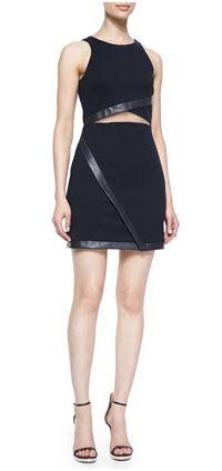 Bailey 44 Leather Trim Dress