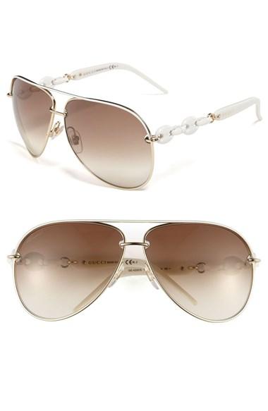 White Link Aviator Sunglasses
