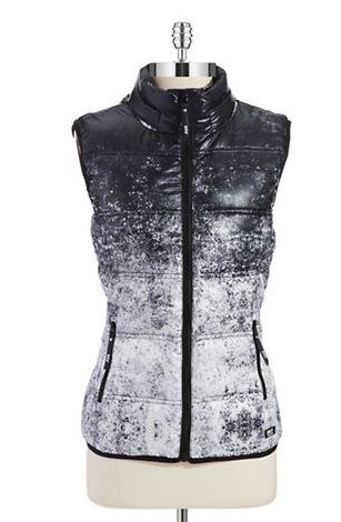 Black and white ombre vest