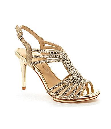 Jeweled Braided Sandals