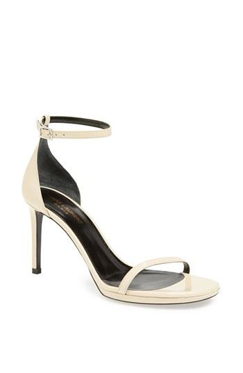 White Ankle Strap Sandal
